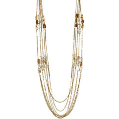 ROX by Alexa Yellow Cape May & Glass 5-Strand Necklace