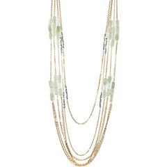 ROX by Alexa Jade & Green Glass Station 5-Row Necklace