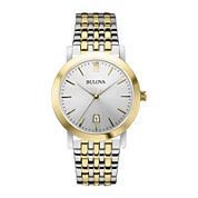 Bulova® Mens Two-Tone Stainless Steel Watch 98B221