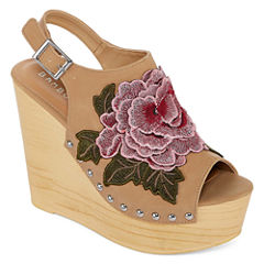 Bamboo Woobery 17s Womens Wedge Sandals