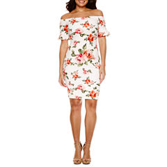 Bisou Bisou Short Sleeve Bodycon Dress