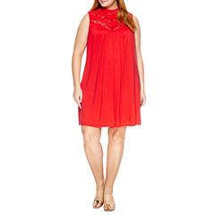 Alyx Sleeveless Lace Sheath Dress-Plus