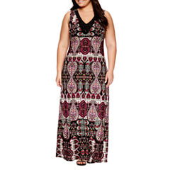 Jennie And Marlis Sleeveless Beaded Maxi Dress-Plus