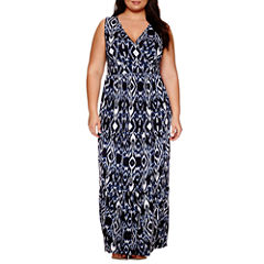 St. John's Bay Sleeveless Maxi Dress-Plus
