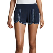 Rewash Woven Embroidered Soft Shorts-Juniors