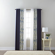 Liz Claiborne Kathryn Solid, Floral, and JCPenney Home Batiste Sheer Grommet-Top Curtain Panels