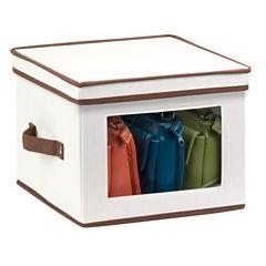 Honey-Can-Do® Natural Canvas Medium Window Storage Box