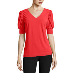 Worthington Short Sleeve V Neck T-Shirt