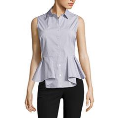 Worthington Sleeveless Button-Front Shirt