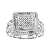 1 CT. T.W. Diamond Sterling Silver Ring