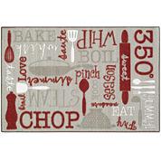 Kitchen Language Rectangular Rug