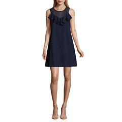 Danny & Nicole Sleeveless Lace A-Line Dress-Petites
