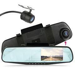 Pyle PLCMDVR47 HD DVR Dash Cam & Rearview Camera System with Dual Cameras