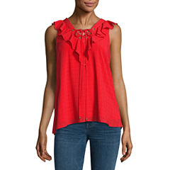 Alyx Sleeveless V Neck Chiffon Blouse