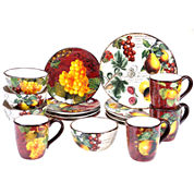 Certified International Botanical Fruit 16-pc. Dinnerware Set