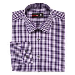 JF J. Ferrar® Long-Sleeve Easy-Care Stretch Dress Shirt - Slim Fit