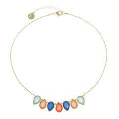 Liz Claiborne Womens Multi Color Collar Necklace
