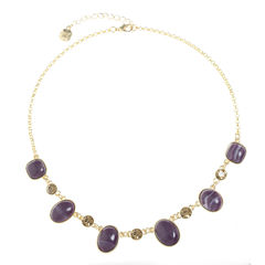 Monet Jewelry Womens Purple Collar Necklace