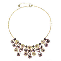 Monet Jewelry Purple Statement Necklace