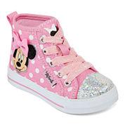 Disney® Minnie Mouse Girls Hi-Top Sneakers - Toddler