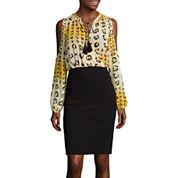 nicole by Nicole Miller® Cold-Shoulder Blouson Dress