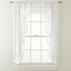 JCPenney Home™ Shari 2-Pack Lace Rod-Pocket Cascade Valance