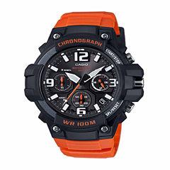 Casio Mens Orange Strap Watch-Mcw100h-4av