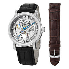 Stuhrling Mens Black Strap Watch-Sp14679
