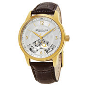 Stuhrling Mens Brown Strap Watch-Sp15509