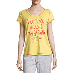 Sleep Chic Short Sleeve Pajama Top