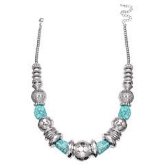 Mixit Clr 0717 Lt Blue Beaded Necklace