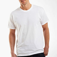 Hanes Cotton 3-pc. Short Sleeve Crew Neck T-Shirt