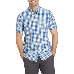 IZOD Advantage Short Sleeve Button-Front Shirt