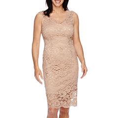 Blu Sage Sleeveless Lace Sheath Dress