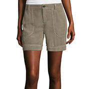 Liz Claiborne® Patch-Pocket Cargo Shorts - Tall