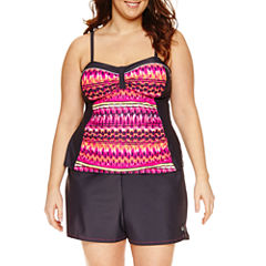 Free Country Side Panel Tankini or Swim Bottom - Plus