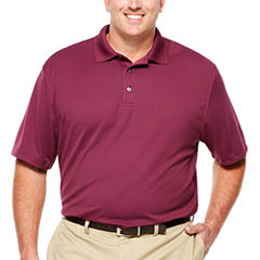 Van Heusen Short Sleeve Traveler Ottoman Knit Polo- Big and Tall