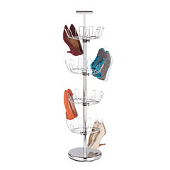 Honey-Can-Do® 4-Tier Revolving Chrome Shoe Tree