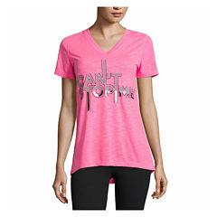 Xersion Short Sleeve V Neck T-Shirt-Talls