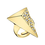 DOWNTOWN BY LANA Gold-Tone Half-Pyramid Ring