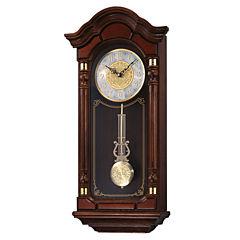 Seiko® Solid Oak Chime Wall Clock with Pendulum