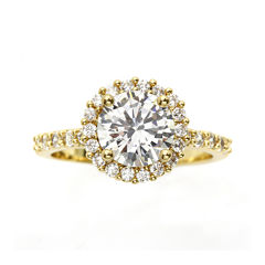 city x city® Cubic Zirconia Pave Gold-Tone Silver-Plated Brass Cocktail Ring