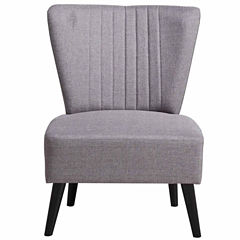 Home Meridian Channeled Back Slipper Chair
