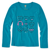 Total Girl® Long-Sleeve Graphic Tee - Girls 7-16 and Plus