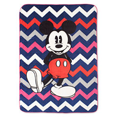 Disney Collection Mickey Mouse Chevron Blanket