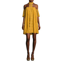 City Triangle 3/4 Sleeve Swing Dresses-Juniors
