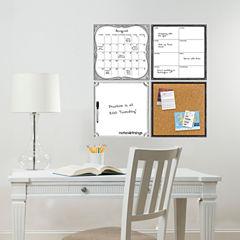 WallPops White 4 Piece Organizer Kit