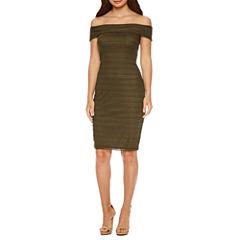 Bisou Bisou Off the Shoulder Sheath Dress