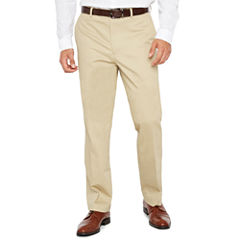 JF Stretch Cotton Khaki FF Pants-Slim