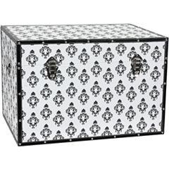 Oriental Furniture Damask Storage Trunk